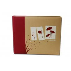 "GreenEarth Red Album, 6x4"" Holds 500"