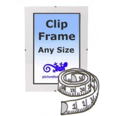 "Bespoke Clip Frame sizes between 5x5"" to 10x10"" (10cm to 25cm)"