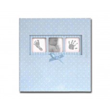 "Blue Polka Dot Baby Photo Album - Slip in Style for 6x4"" Prints"