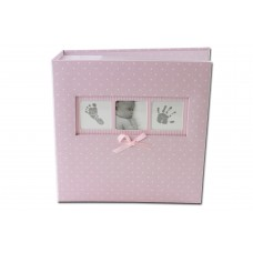 "Pink Polka Dot Baby Photo Album - Slip in Style for 6x4"" Prints"