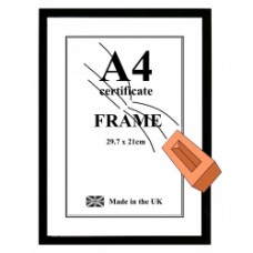 A4 Certificate Safety Frame
