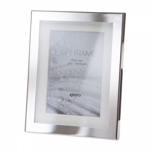 6x8 Eden Delicate Silver Photo Picture Ivory Mount Frames Kenro