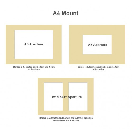 A4 certificate size Double Bevel Edge Picture Photo Mount