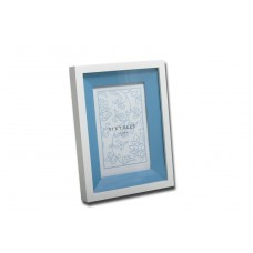 "4x6"" White Wood Frame with Blue Inlay - Sale"